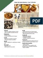 Menu de La Cuisine de Meme Moniq 8 Au 14 Fevrier
