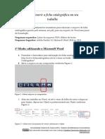 Como inserir a ficha catalográfica