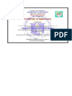 Certificate of Participation & Attendance execon