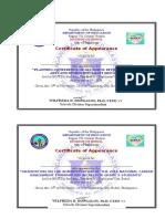 Certificate of Participation & Attendance BDCASS