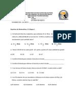 Examen de matemáticas b1