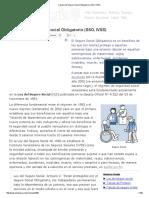 Calculo del Seguro Social Obligatorio (SSO, IVSS)