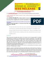 20200217-PRESS RELEASE Mr G. H. Schorel-Hlavka O.W.B. ISSUE – Re is It an Aboriginal Oriental Corona Virus