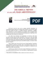 A crise grega – menos Platão, mais Aristóteles