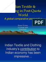 Indian Textile and Clothing Global Comparative