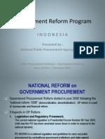 Indonesia Procurement Reform Program