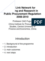 EU Asialink Project on Public Procurement Regulation-ADB