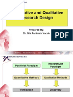 UKM Quantitative and Qualitative Research Design