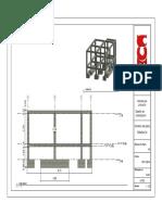 Plano detalle 3d zapatas de construccion