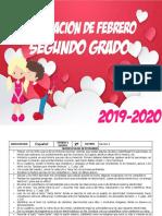 Planeaciones 2do de primaria - FEBRERO 2020