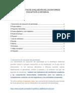 INSTRUMENTOS DE EVALUACIÓN EN LOS ENTORNOS EDUCATIVOS A DISTANCIA