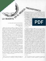 Matos Moctezuma, Eduardo - La muerte en el México Prehispánico