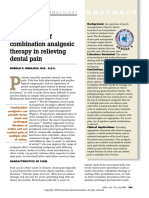 The efficacy of combination analgesic therapy in relieving dental pain