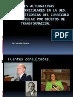 inducción alternativas curriculares en la UES