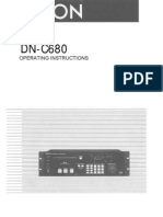 Denon C680 CD Player Manual