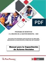 Manual para capacitación al Actor Social v1