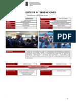 lista de reporte de intervenciones