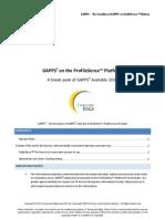 Sneak peak at GAPPS4 - GAPPS3 on ProfileSense