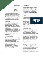 37 Key Basic Stock Market Terms