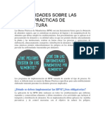 GENERALIDADES SOBRE LAS BUENAS PRÁCTICAS DE MANUFACTURA