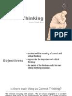 3 Critical thinking
