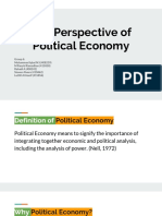 Perspective of Political Economy
