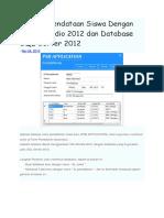 Aplikasi Pendataan Siswa Dengan Visual Studio 2012 dan Database SQL Server 2012