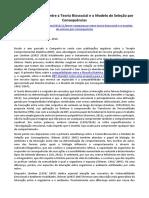 ARTIGO - PSICOLOGIA - Breve Comparação entre a Teoria Biossocial e o Modelo de Seleção por Consequências (Comporte-se).docx