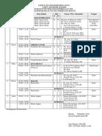 Jadwal Semester Ganjil 2019 - 2020