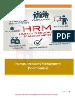 HRM Short Course