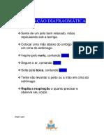 RESPIRAÇAO DIAGRAGMATICA
