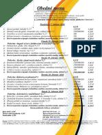 Obedné menu 17. 02.-21. 02. 2020