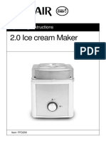 Goldair Ice Cream Maker - Manual
