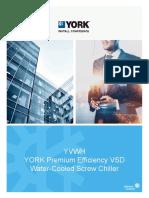 YORK YVWH Premium Efficiency VSD Water Cooled Screw Chiller Brochure.pdf