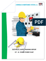 Electrical Safety   Training Report of Al  Duqm Power Station