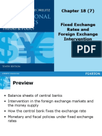 Topic 7 - Fixed Exchange Rates and Foreign Exchange Intervention