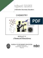 Chem M13 Chemical Reactions