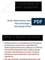 paint manufacturing quality control