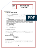 Handout 1 (PARAGRAPH WRITING)