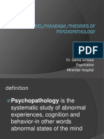 Lecture 2 - MODELS OF PSYCHOPATHOLOGY 2012