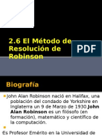 2.6 El Metodo de Resolucion de Robinson