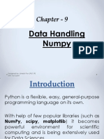 Chapter - 9 Data Handling NumPy