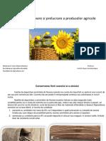 Tehnici de conservare si prelucrare a produselor agricole
