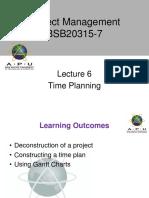 Project Management APU Lec 6