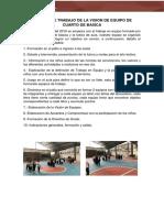 VISION DE EQUIPO DE CUARTO DE BASICA 2019-2020