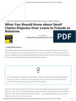 What You Should Know about Small Claims Disputes Over Loans to Friends or Relatives