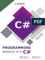 Programming Basics with C# Book (by Svetlin Nakov and SoftUni)
