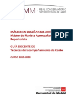 6. MPAyR. GD Técnicas del Acompañamiento de Canto (2019-2020)