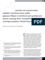 Shear capacity of concrete slabs reinforced with glass-fiber-reinforced polymer bars using the modified compression field theory