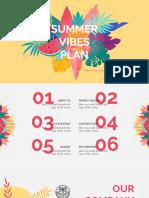 Summer Vibes Marketing Plan by Slidesgo